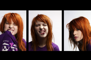 hayley williams tongues collage women redhead face