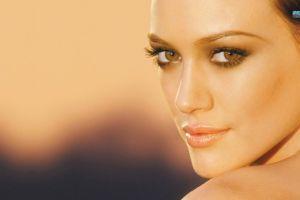 hazel eyes face brunette women hilary duff celebrity