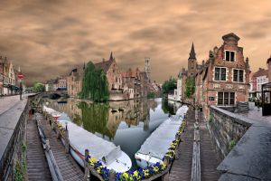 hdr bruges abstract building