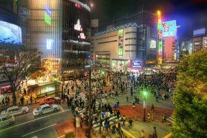 hdr building urban tokyo night