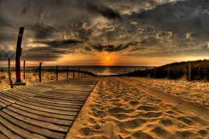 hdr horizon sea sky sunlight