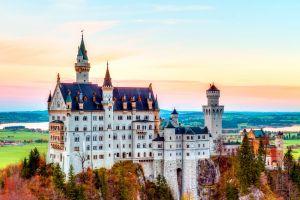 hdr neuschwanstein castle castle building landscape