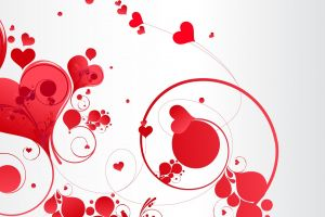 heart abstract love white shapes artwork
