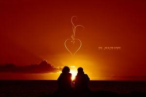 heart love sea horizon