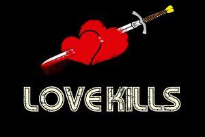 heart love sword
