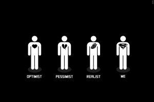 heart superman life humor minimalism simple black