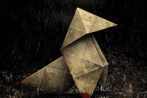heavy rain video games blood origami rain