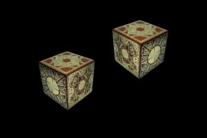 hellraiser black background cube digital art lemarchand's box movies