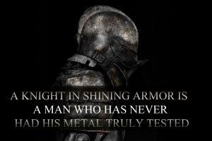 helmet knight typography