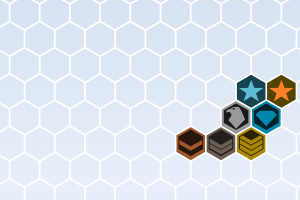 hexagon texture window