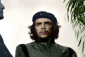 historic hat men beards colorized photos che guevara
