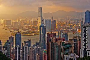 hong kong china city cityscape