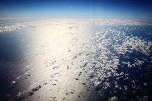 horizon aerial view clouds sky