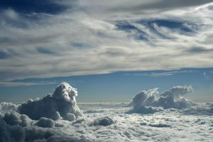 horizon digital art clouds sky artwork lion animals