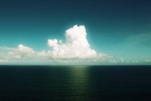 horizon sky landscape clouds sea