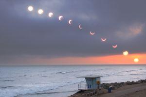 horizon sky nature solar eclipse sea