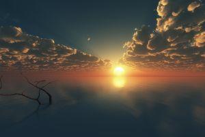 horizon sky sunlight nature clouds sea richard mohler