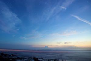 horizon stars landscape sky nature