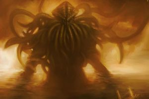 horror cthulhu artwork h. p. lovecraft creature