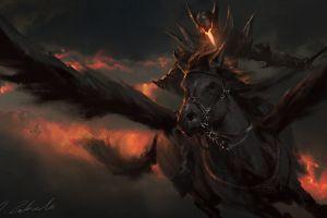 horse wings fantasy art darek zabrocki  artwork