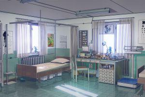 hospital bed artwork arsenixc