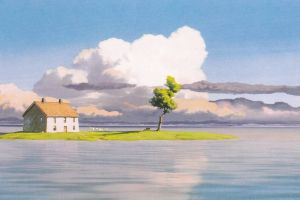 house island artwork painting
