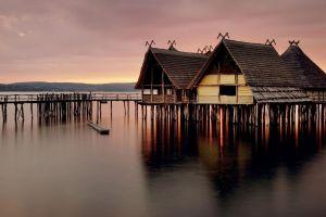 house lake constance lake archeology architecture nature