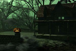house pumpkin halloween