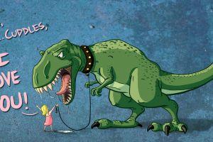 humor tyrannosaurus rex artwork dark humor children dinosaurs t-rex