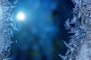 ice cold blue frost blurred