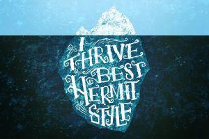 iceberg typography split view cyan blue artwork