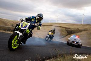 icon smoke police drift pursuit triumph