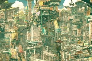 imperial boy futuristic city city drawing fantasy city futuristic