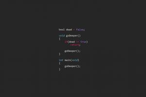 inception programming programming language computer minimalism syntax highlighting code