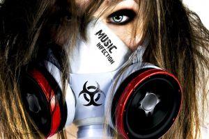 infection music gas masks women artwork photography biohazard