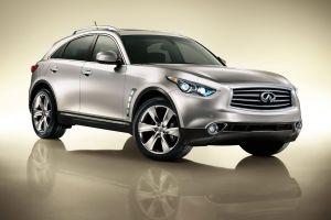 infiniti fx car vehicle silver cars