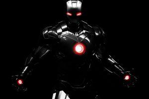 iron man armor render simple background digital art