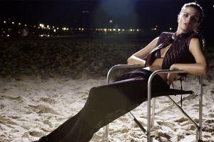 isabeli fontana legs chair women pants
