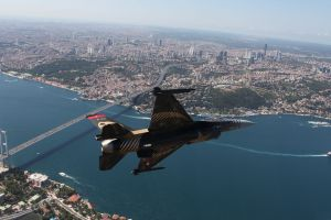 istanbul military aircraft bosphorus bridge turkey