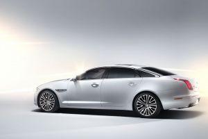 jaguar xj white cars vehicle car