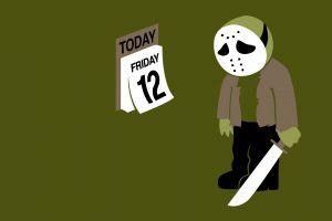 jason voorhees humor sad machete simple background mask calendar hockey mask