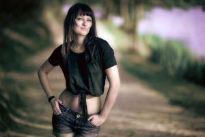 jeans women women outdoors
