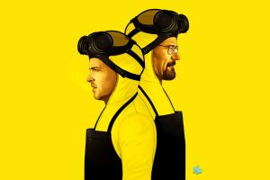 jessie pinkman breaking bad yellow walter white