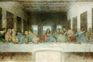 jesus christ leonardo da vinci classic art painting the last supper