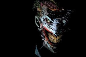 joker black background dc comics artwork comic art comics comic books scars