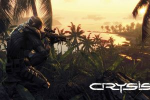 jungle crysis weapon beach sniper rifle video games