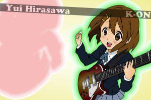 k-on! anime girls hirasawa yui anime