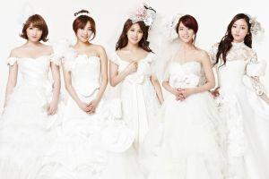 k-pop wedding dress asian women korean kara