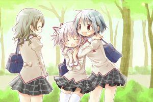 kaname madoka miki sayaka anime girls mahou shoujo madoka magica anime