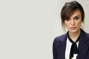 keira knightley women actress face celebrity simple background brunette